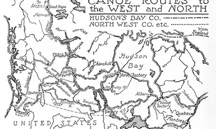 Canoe Routes To The West And North