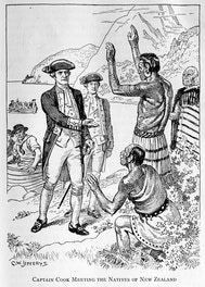 {Captain Cook Meeting the Natives of New Zealand}