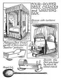 {Four-poster Beds, Cradles And Warming Pan}
