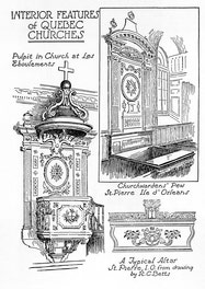 {Interior Features Of Quebec Churches}