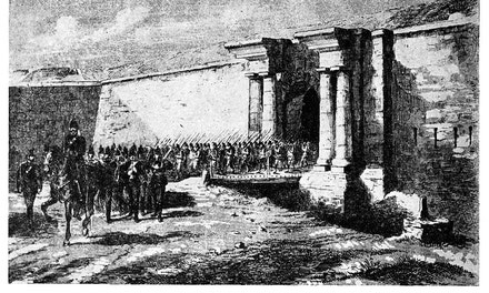 Imperial Troops Leaving Citadel at Quebec, 1870