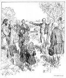 Lord Selkirk Naming Kildonan, 1817