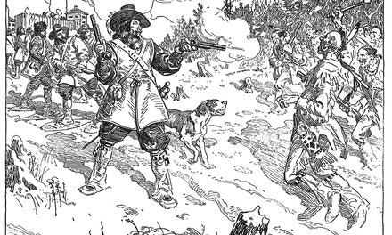 Maisonneuve's Fight With the Indians