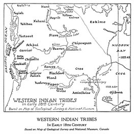 {Map Showing Locations of Western Indian Tribes}