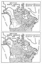 Maps of British North America, 1792, 1818
