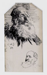 Man With Beard (two views)