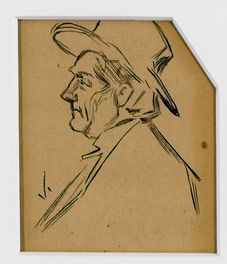 Man With Hat Facing Left