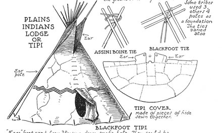 Plains Indians Lodge or Tipi