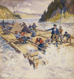 {The First Raft On The Ottawa, 1806}