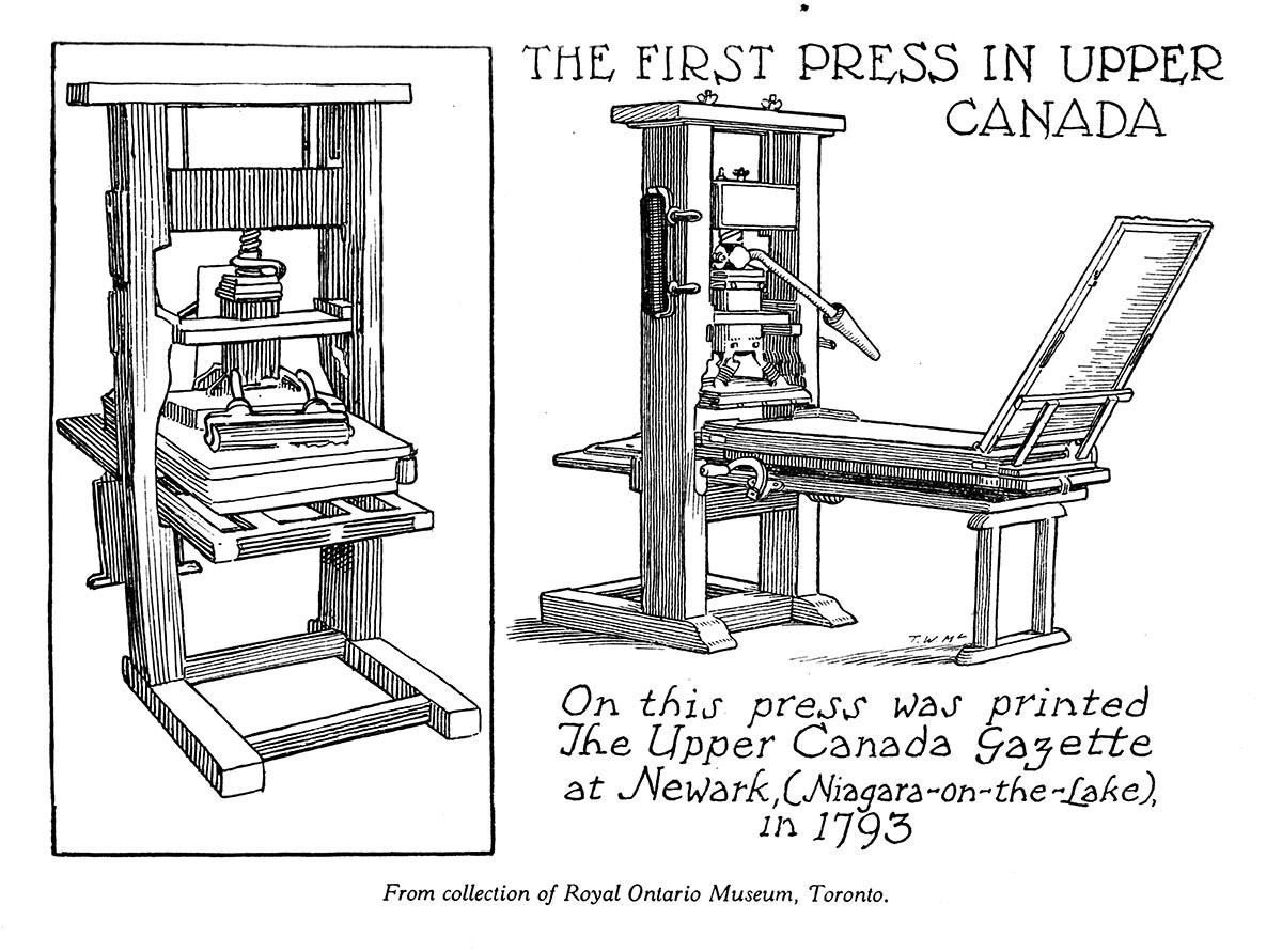The First Press in Upper Canada
