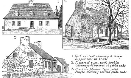 {Typical Early Quebec Houses}
