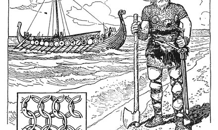 {Viking Warrior and Vessel}