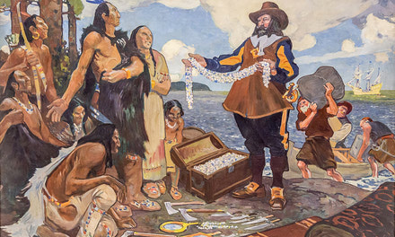 {Champlain Trading with the Indians}