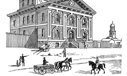 Court House and Jail, Toronto, 1840