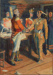 Meeting of Brock and Tecumseh, 1812