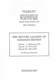 {The Picture Gallery of Canadian History Vol. 2 (Edition Notice)}