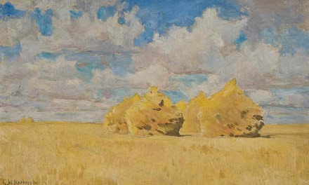 Wheat Stacks on the Prairies 1910