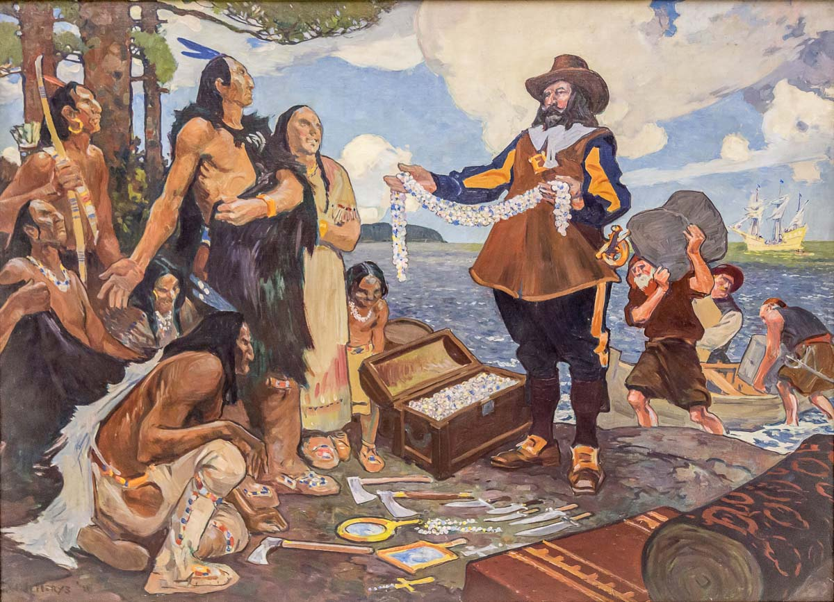 Champlain trading with the indians (correct)