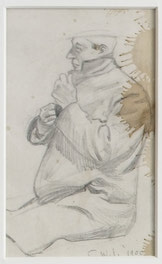 12 Small Sketches - Man Closing His Coat
