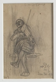 12 Small Sketches - Man Playing Fiddle