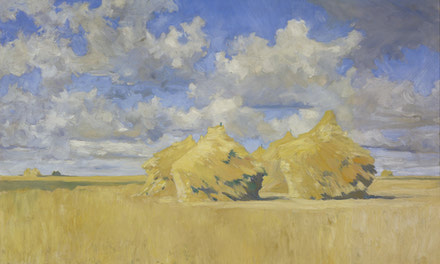 Wheat Stacks on the Prairies 1907