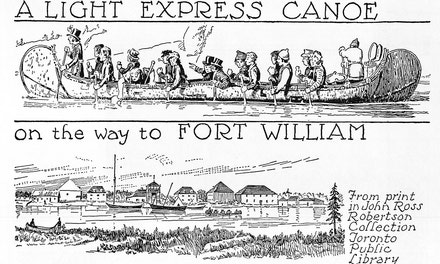 A Light Express Canoe on the Way to Fort William