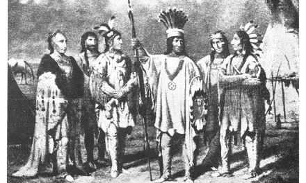 Blackfoot Chief And Warriors
