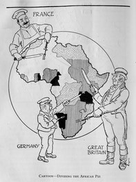 Cartoon - Dividing the African Pie