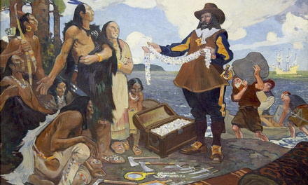 Champlain Trading with the Indians
