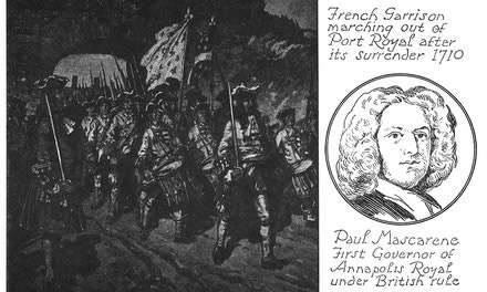 French Garrison Marching Out of Port Royal. Mascarene
