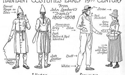 Habitant Costumes, Early Nineteenth Century