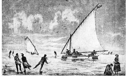 Ice Boating on Toronto Bay