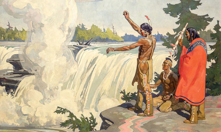 Indians Paying Homage to Spirit of the Chaudiere