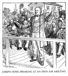 Joseph Howe Speaking at an Open Air Meeting