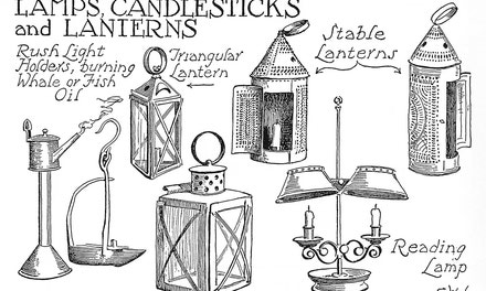 Lamps, Candlesticks And Lanterns