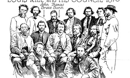 Louis Riel and His Council, 1870