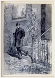 Man Descending a Stoop
