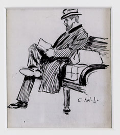 Man Sitting Reading