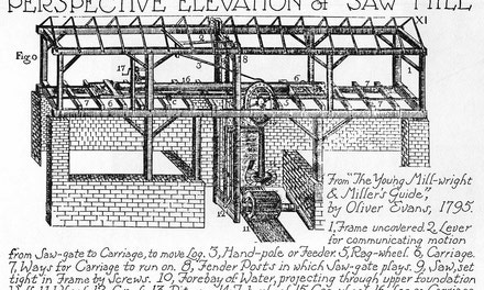 Perspective Elevation Of Saw Mill