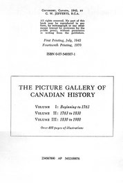 The Picture Gallery of Canadian History Vol. 1 (Edition Notice)
