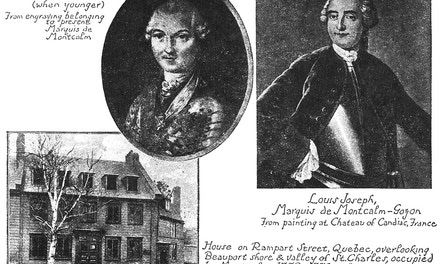 Portraits of Montcalm. House on Rampart Street, Quebec