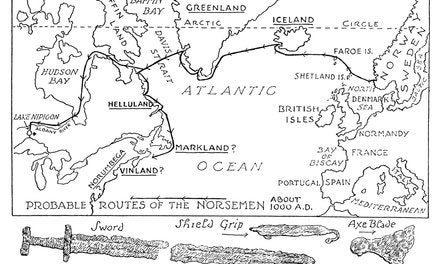 Probable Routes of the Norsemen
