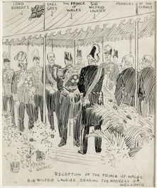 Reception of the Prince of Wales 1908
