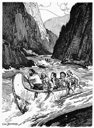Simon Fraser Descending The Fraser River, 1808