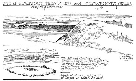 Site of Blackfoot Treaty, 1877, and Crowfoot's Grave