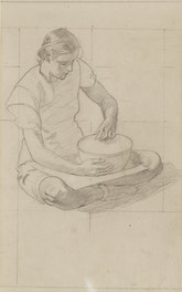 Study for primitive woman with a bowl