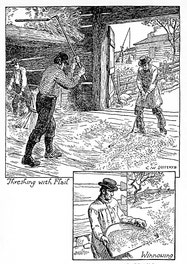 Threshing and Winnowing Grain