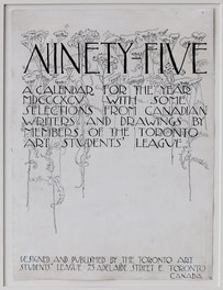 Title-page for the Toronto Art Students' League 1895 Calendar
