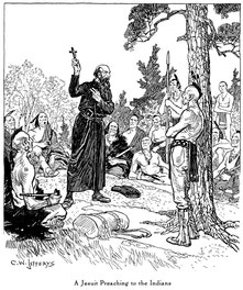 A Jesuit Preaching to the Indians