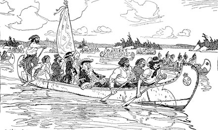 Frontenac on the Way to Cataraqui, 1672